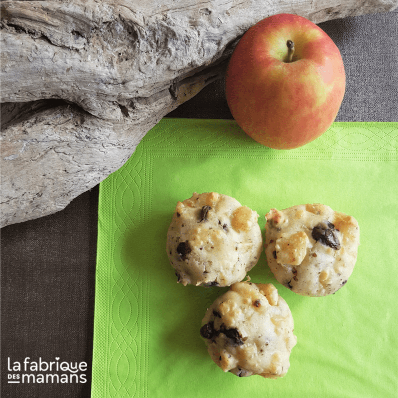 Recette muffin pommes - chocolat