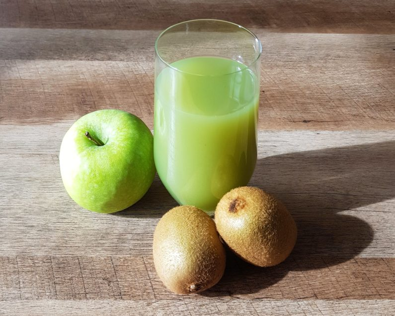 Smoothie kiwi pommes